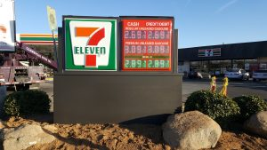 7-Eleven Monument sign with pricer - NY