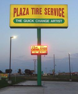 Plaza Tire - Pylon